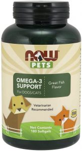 NOW Pet Health Omega 3 Supplement