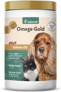 NaturVet – Omega-Gold Plus Salmon Oil
